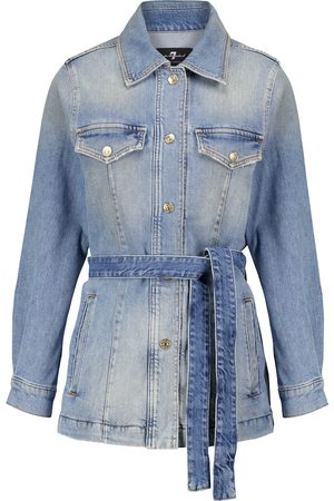 7 for all Mankind Into You belted denim jacket