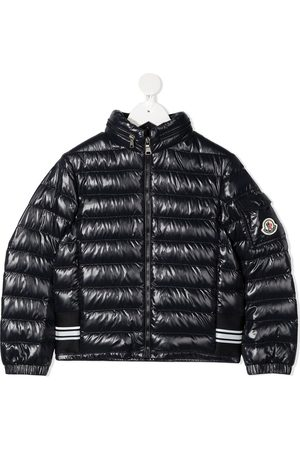 Moncler Logo-patch glossy padded jacket