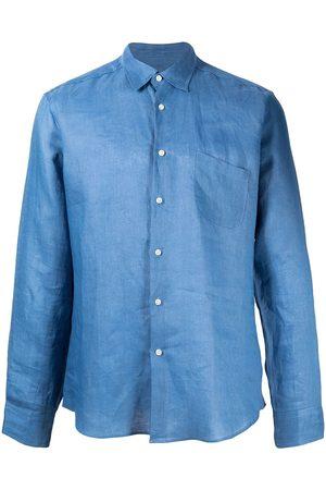 PENINSULA SWIMWEAR Chest pocket detail curved hem shirt