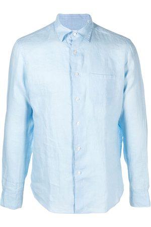PENINSULA SWIMWEAR Men Shirts - Crinkled effect chest pocket shirt