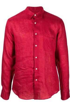 PENINSULA SWIMWEAR Crinkled effect chest pocket shirt