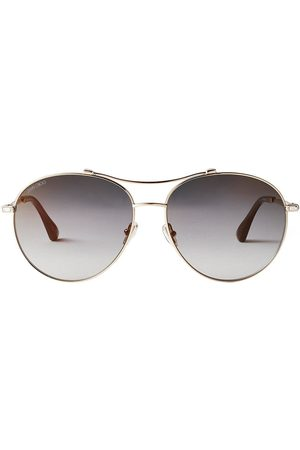 Jimmy Choo Women Aviators - Vina aviator-frame sunglasses - Grey