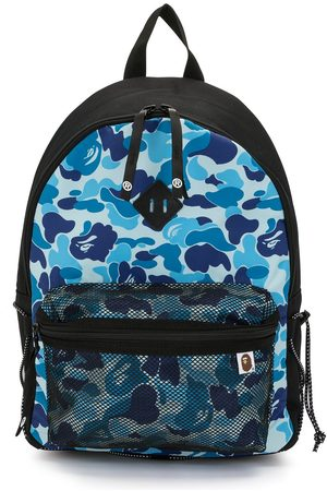 A Bathing Ape Men Rucksacks - Camouflage-print mesh-compartment backpack