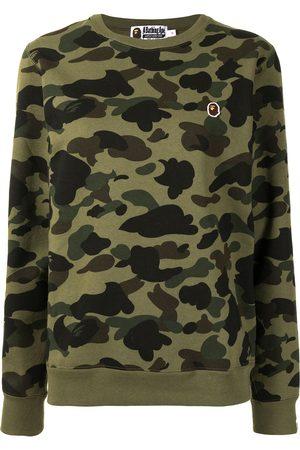 A Bathing Ape Women Sweatshirts - Camouflage-print sweatshirt