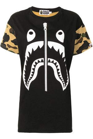 A Bathing Ape Women Printed Dresses - Camouflage shark T-shirt dress