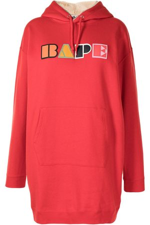A Bathing Ape Logo-patch hoodie dress