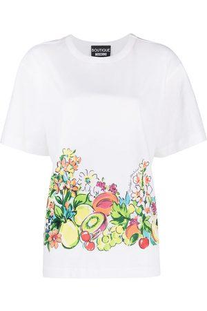 Moschino Fruit print cotton T-shirt