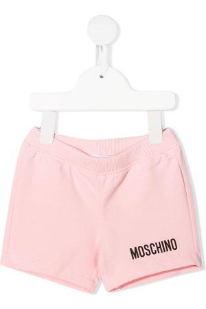 Moschino Shorts - Logo-embellished jersey shorts