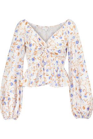 Caroline Constas Onira floral cotton-blend top