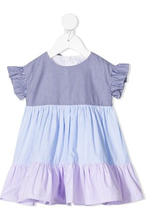 Il gufo Baby Casual Dresses - Stripe-print ruffled dress