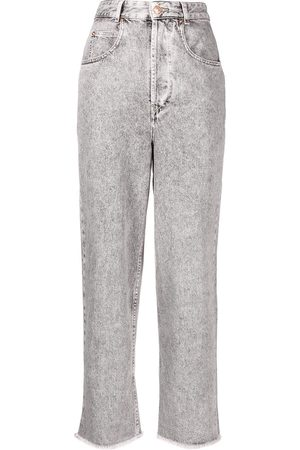 Isabel Marant High-rise acid-wash straight-leg jeans - Grey