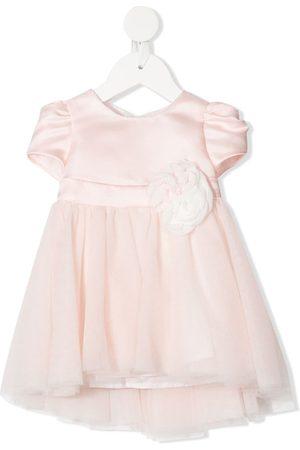 MONNALISA Baby Dresses - Flower-appliqué tulle dress