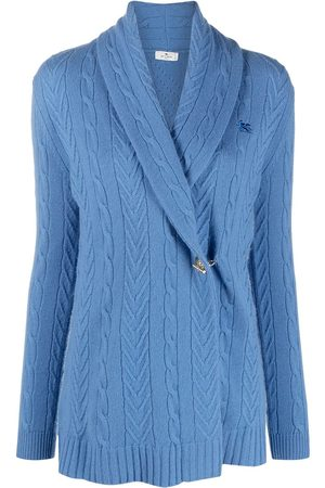 Etro Off-centre buttoned cashmere cardigan