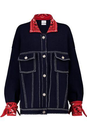 Barrie Exclusive to Mytheresa – Bandana-print cashmere-blend knit jacket