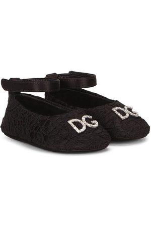 Dolce & Gabbana Logo-plaque ballerina shoes