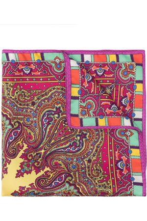 Etro Men Bow Ties - Paisley print pocket square