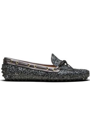 CAR SHOE Glitter-effect driving shoes - Grey