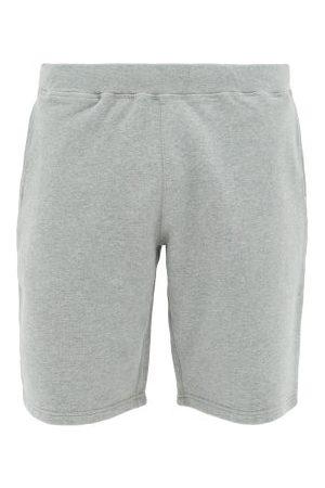 Sunspel Loopback Cotton-jersey Shorts - Mens - Grey