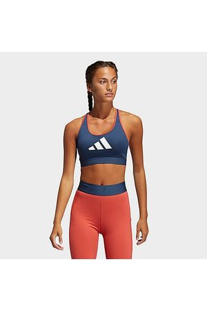 adidas Women Sports Bras - Women's Don't Rest 3-Stripes Medium-Support Sports Bra in /Crew Navy
