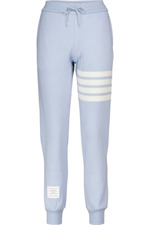 Thom Browne Women Skinny Pants - Cashmere and cotton-blend slim trackpants