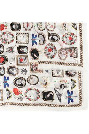 Alexander McQueen Curiosities print scarf - Neutrals