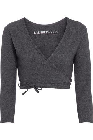 LIVE THE PROCESS Zen wrap cardigan