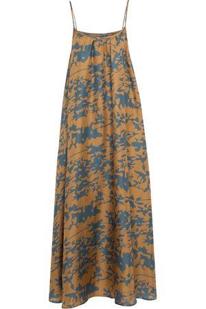 ASCENO Women Casual Dresses - Napoli printed silk dress
