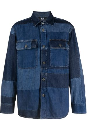 Diesel Patchwork denim shirt