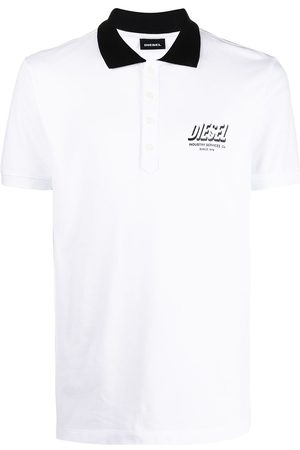 Diesel Industry print polo shirt