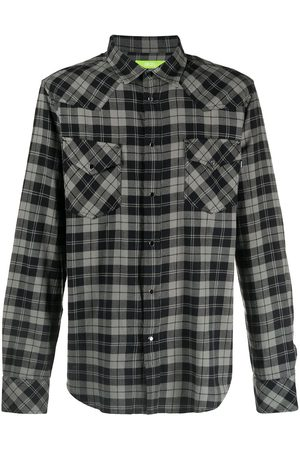 Diesel Men Casual - Green Label flannel Western shirt