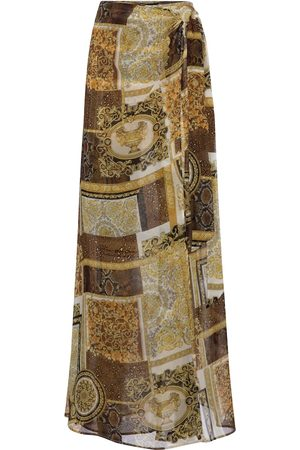 VERSACE Barocco Mosaic printed silk sarong