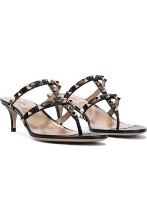 VALENTINO GARAVANI Women Sandals - Rockstud leather sandals