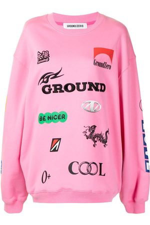 Ground Zero Multi-motif oversized sweatshirt