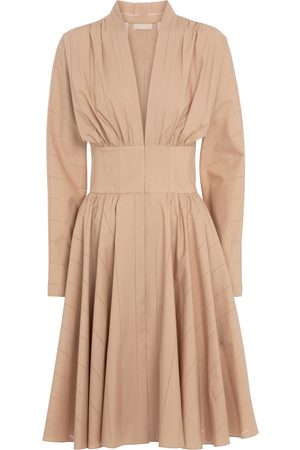 Alaïa Long-sleeved cotton minidress