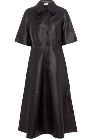 CO Essentials leather shirt dress
