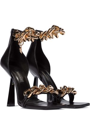 VERSACE Medusa Chain leather sandals