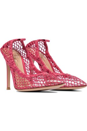 Gianvito Rossi PVC-trimmed fishnet pumps