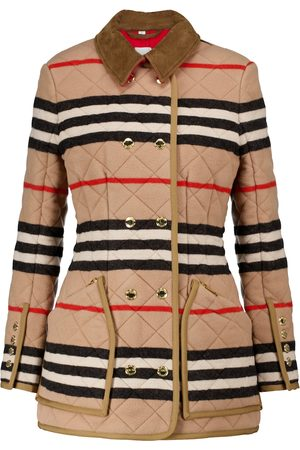 Burberry Women Jackets - Icon Stripe quilted wool jacket