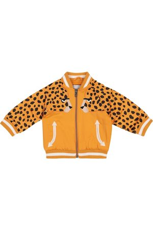 Stella McCartney Baby Cheetah satin bomber jacket