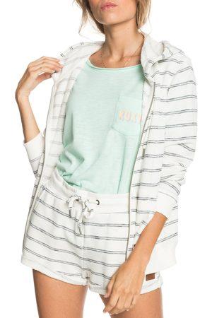 Roxy Women's Perfect Wave Stripe Terry Zip Hoodie