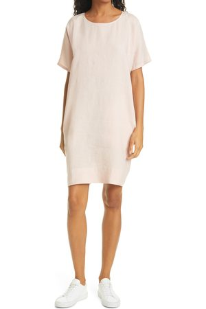 Eileen Fisher Women's Short Sleeve Organic Linen Dress