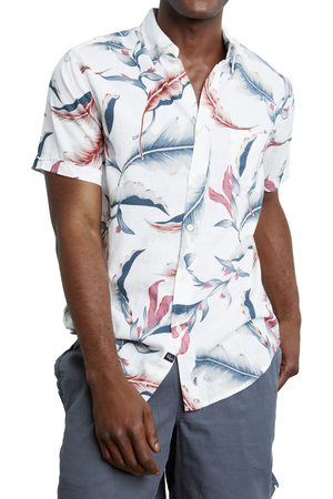 Rails Men's Carson Floral Short Sleeve Linen Blend Button-Up Shirt