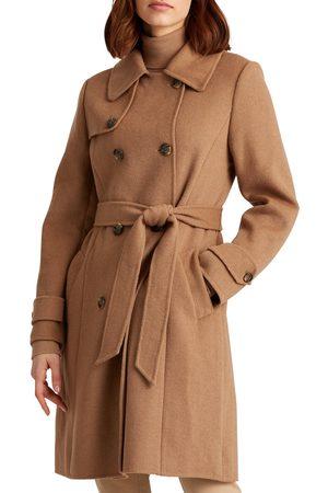 LAUREN RALPH LAUREN Women's Wool Blend Trench Coat