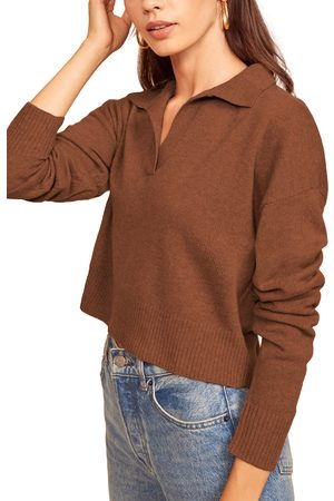 Reformation Women's Cashmere Polo Sweater