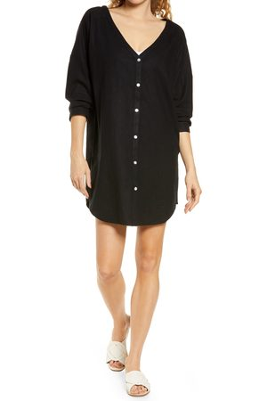 Chelsea Women's Oversize Linen Blend Cover-Up Shirt