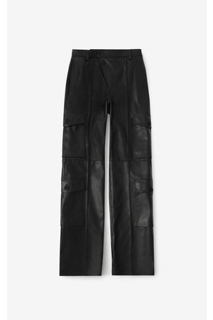 Kenzo Leather cargo trousers