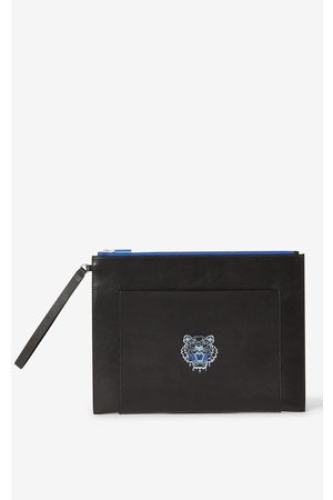 Kenzo Large leather Ekusson Tiger pouch