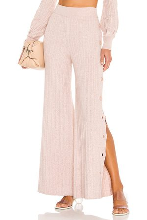 Michael Costello X REVOLVE Kalina Side Button Pant in Taupe.