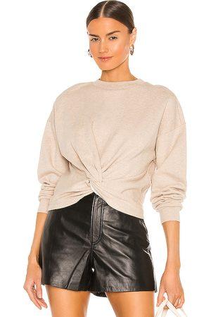 Frame Twisted Sweatshirt in Neutral.