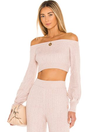 Michael Costello X REVOLVE Kalina Sweater in Taupe.